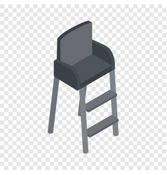 tennis referee chair isometric icon vector image