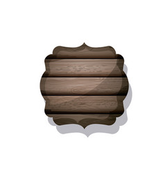 Wood and striped brown frame design vector