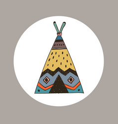 boho collection with wigwam vector image vector image