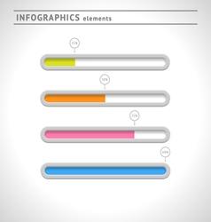 Download bars and progress indicators vector image