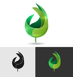 Leaf Abstract Logo Icon Symbol vector image