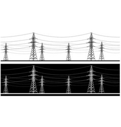 panoramic high voltage vector image
