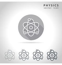 Physics outline icon vector image vector image
