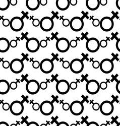 Seamless Female Symbol Pattern Background vector image
