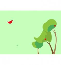 three surreal trees vector image vector image