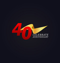 40 years anniversary celebration elegant gold vector