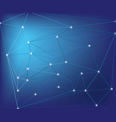 abstract network connection on blue background vector image