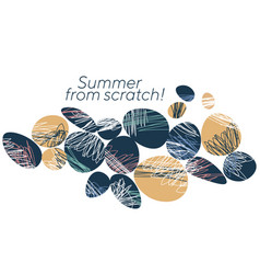 abstract summer holidays banner template vector image