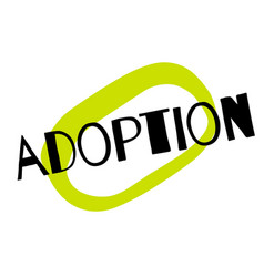 Adoption sticker stamp vector