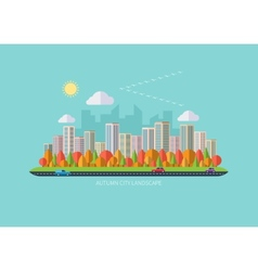 Autumn urban landscape vector image