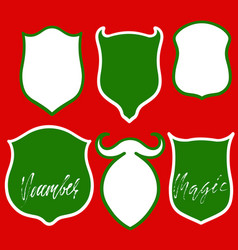 Banners set on red background christmas vector