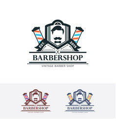 barbershop logo design vector image