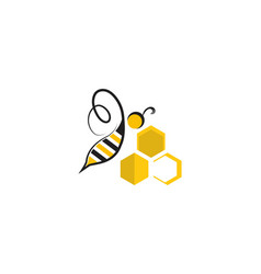 bee logo and symbol templates vector image