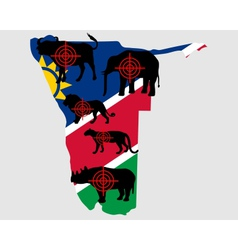 Big five namibia cross lines vector
