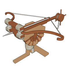 big medieval crossbow on white background vector image