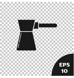 Black coffee turk icon isolated on transparent vector
