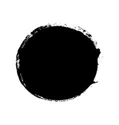 Brush stroke isolated white background circle vector