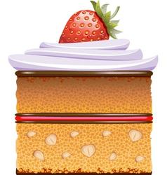 Cake slice vector