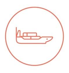 Cargo container ship line icon vector image