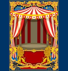 Carnival poster frame vector