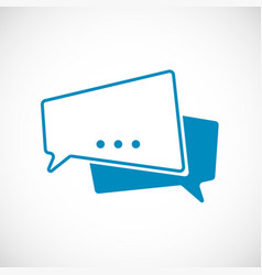 chat message doodle message as speech bubble web vector image