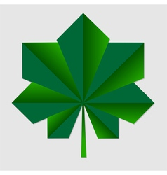 Chestnut origami green leaf vector