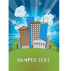 City Poster Background vector image