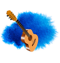 Color image of acoustic guitar vector