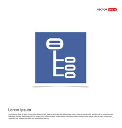Computer network icon - blue photo frame vector