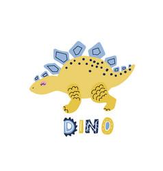 Cute cartoon hand drawn dinosaur vector