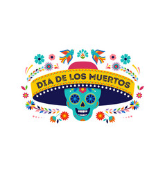 day dead dia de los muertos background vector image