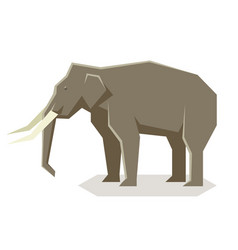 flat geometric asian elephant vector image