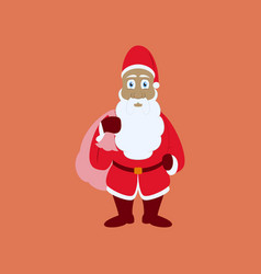 Flat on background of santa claus vector