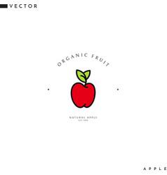 Fresh apple logo vector