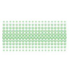 Glad smiley shape halftone pattern vector