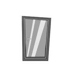 Glass interior door icon black monochrome style vector image