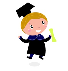 graduation happy bachelor vector image