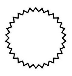 Graffiti 30 point star shape sprayed in black vector