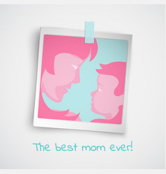 greeting card with women and baby photo vector image