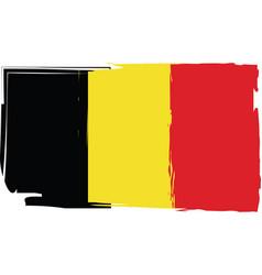 grunge belgium flag or banner vector image