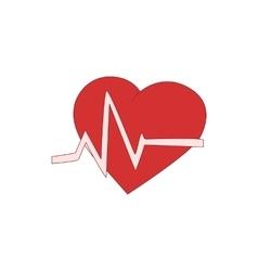 Heart beats icon cartoon style vector image