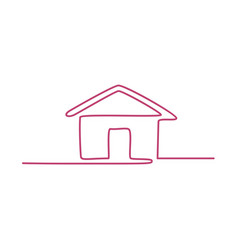 House continuous line art vector