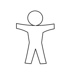 Human symbol pictogram vector
