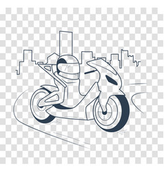 icon motorcycle black silhouette vector image