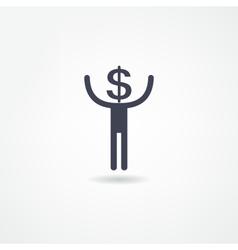 income icon vector image