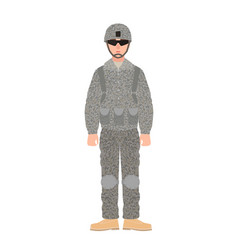 Infantryman of usa armed forces wearing combat vector