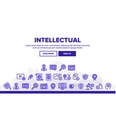 Intellectual property landing header vector