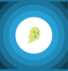 Isolated ghost flat icon phantom element vector