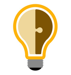 isolated lightbulb icon vector image