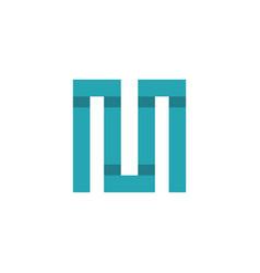 letter m square monogram logo vector image